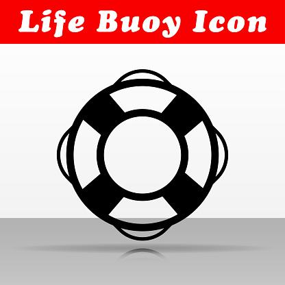 life buoy vector icon design