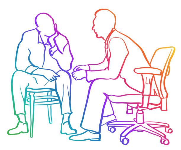 Life Coach Counselling Rainbow vector art illustration