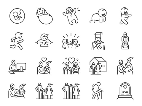 family lifestyle stock illustrations