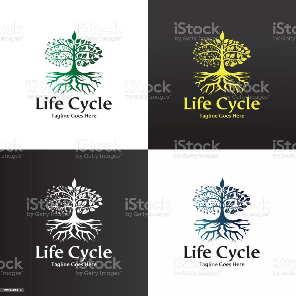 Life cycle logo vector art illustration