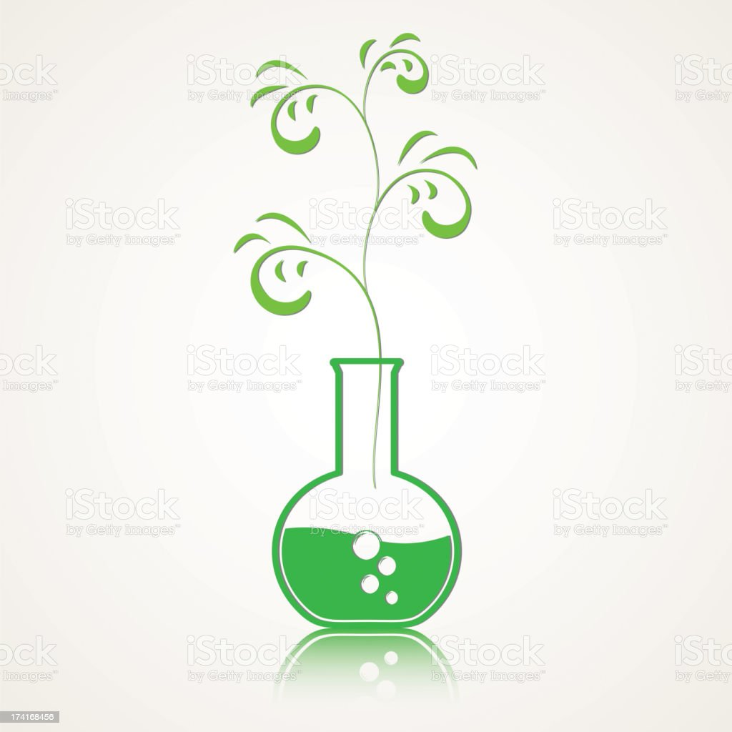 life from a test tube royalty-free stock vector art
