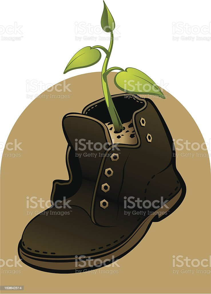 Life in a shoe royalty-free stock vector art