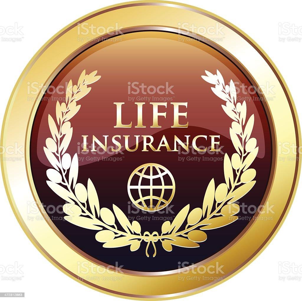 Life Insurance prix Golden Award - Illustration vectorielle