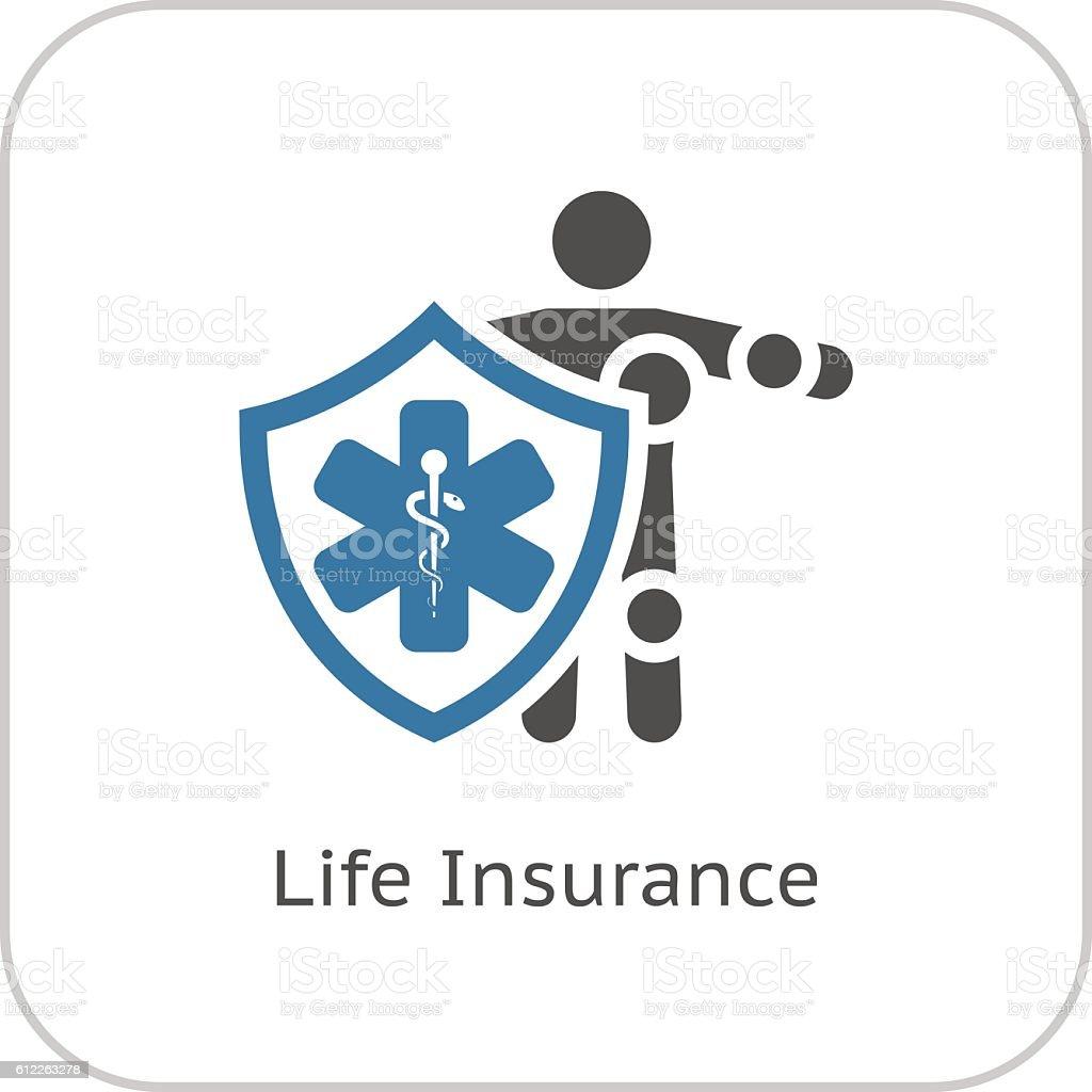 Life Insurance Icon. Flat Design. - Illustration vectorielle
