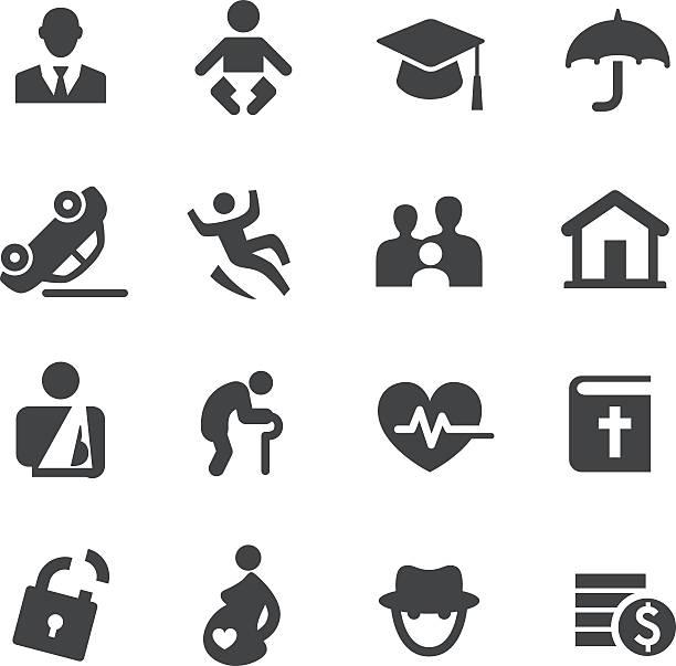 Life Insurance Icons - Acme Series vector art illustration