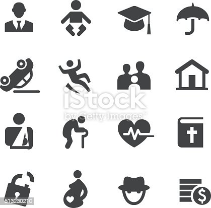 Life Insurance Icons Acme Series Stock Vector Art & More ...