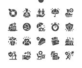 istock Life insurance policy. Reliable protection. Insurance for family. Life and health. Insurance payment. Vector Solid Icons. Simple Pictogram 1276460363
