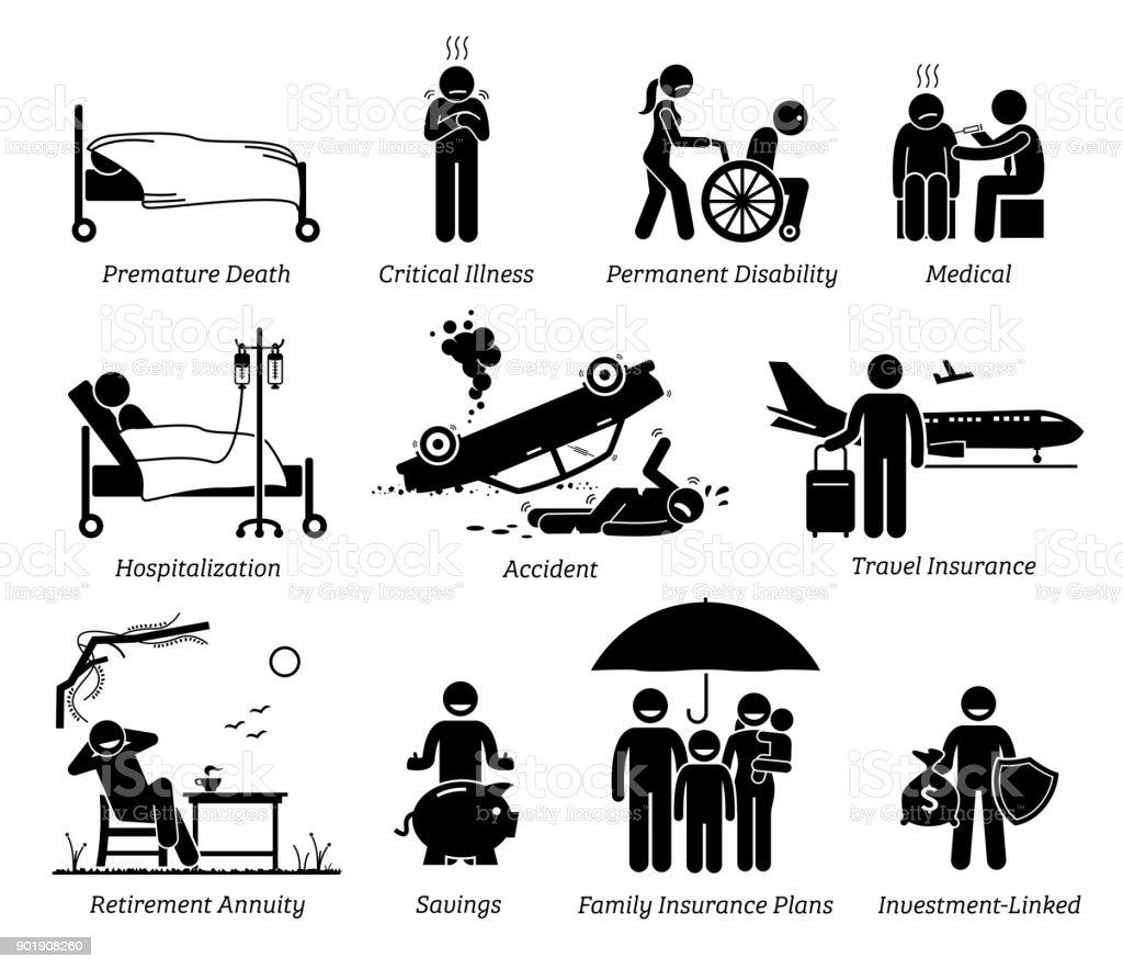 Life Insurance Protection. vector art illustration