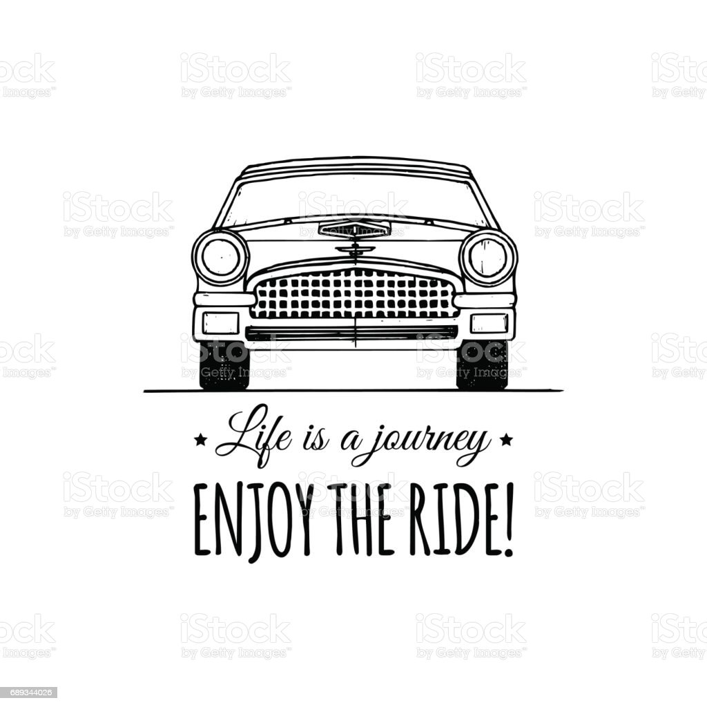 Life Is A Journey Enjoy The Ride Motivational Quote Vintage ...