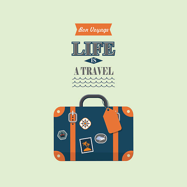 life is a travel vector poster - luggage stock illustrations