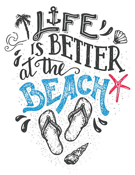 beach lifestyle stock illustrations