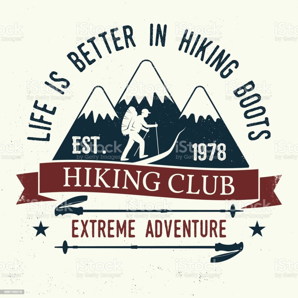 Life is better in hiking boots life is better in hiking boots - immagini vettoriali stock e altre immagini di abbigliamento casual royalty-free