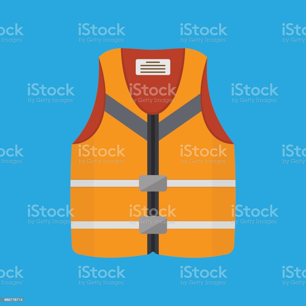 Life Jacket Flat Vector Illustration royalty-free life jacket flat vector illustration stock vector art & more images of aids