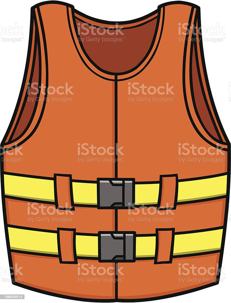 Life Jacket royalty-free stock vector art