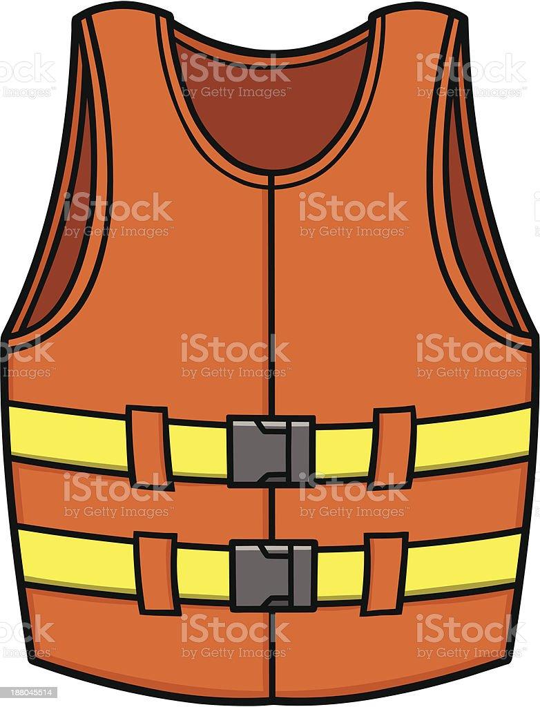 Life Jacket vector art illustration