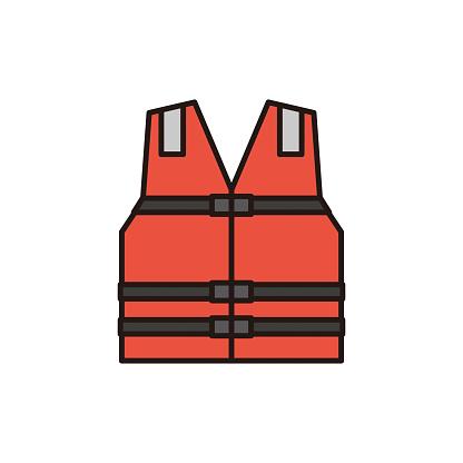Life jacket vector illustration