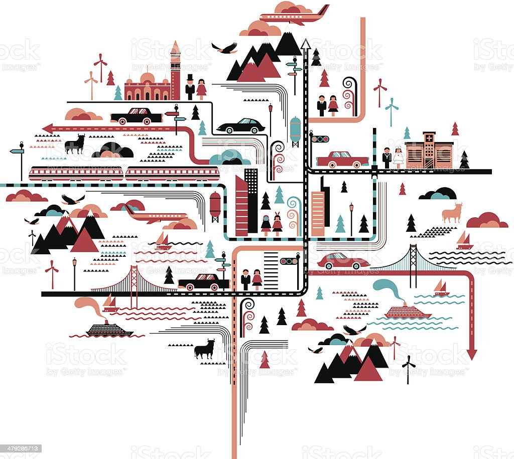 life map royalty-free stock vector art
