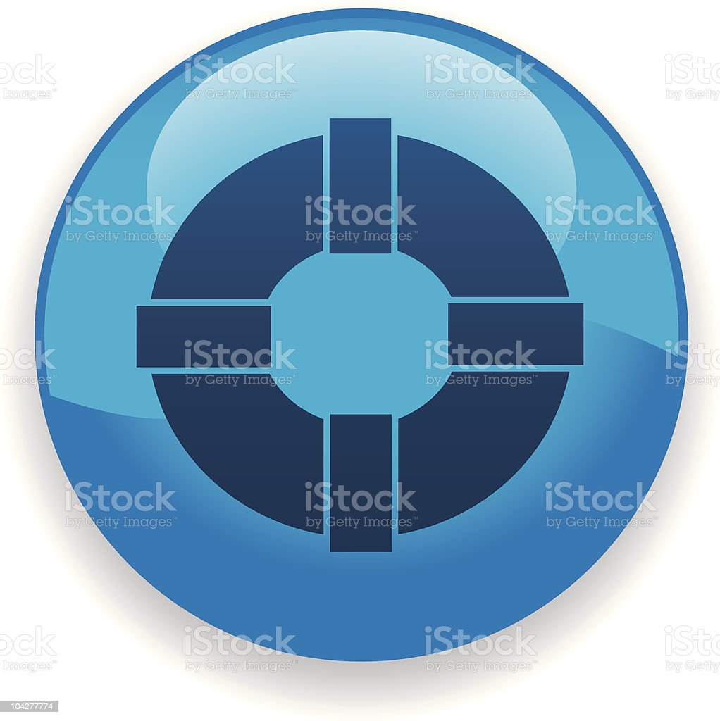 Life Preserver Icon royalty-free life preserver icon stock vector art & more images of blue
