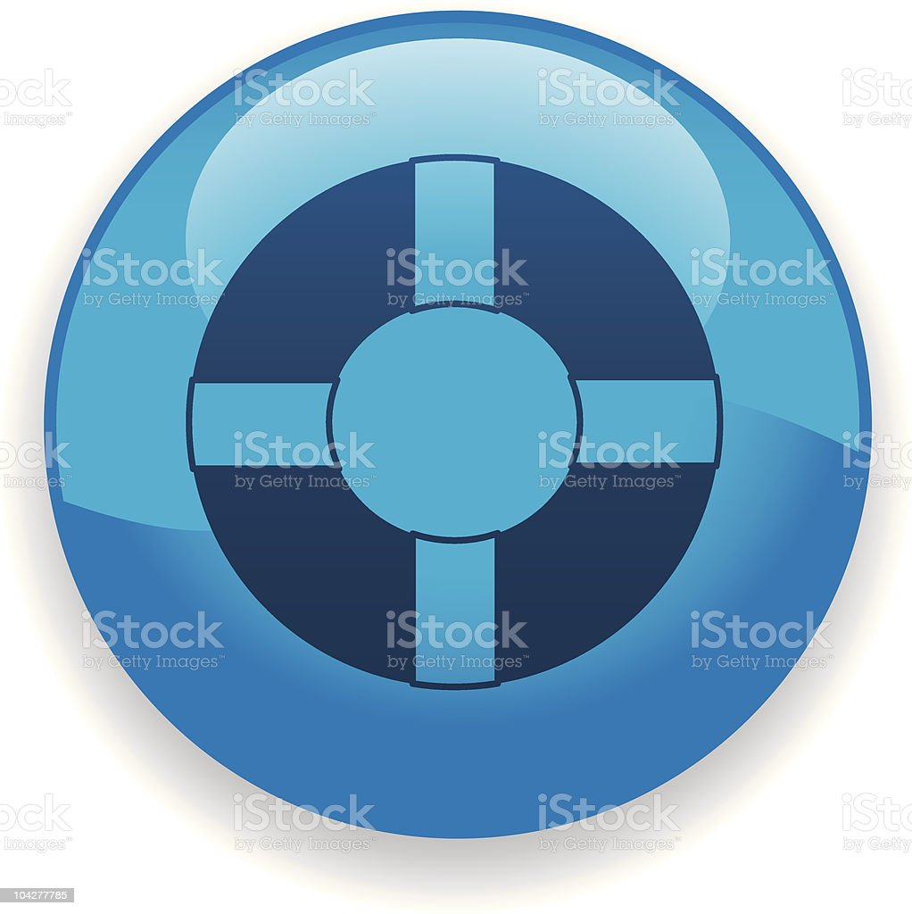 Life Preserver Icon royalty-free stock vector art
