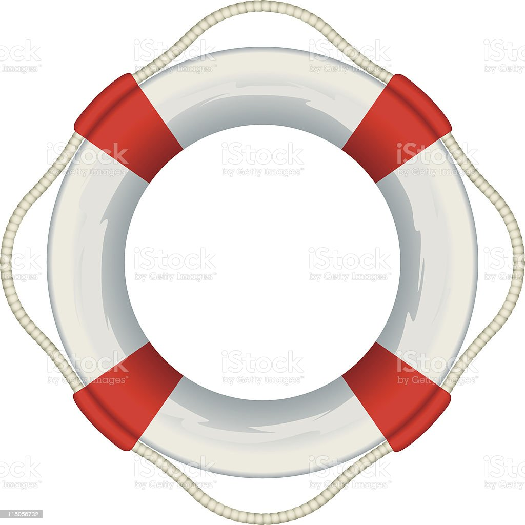 Life preserver royalty-free stock vector art