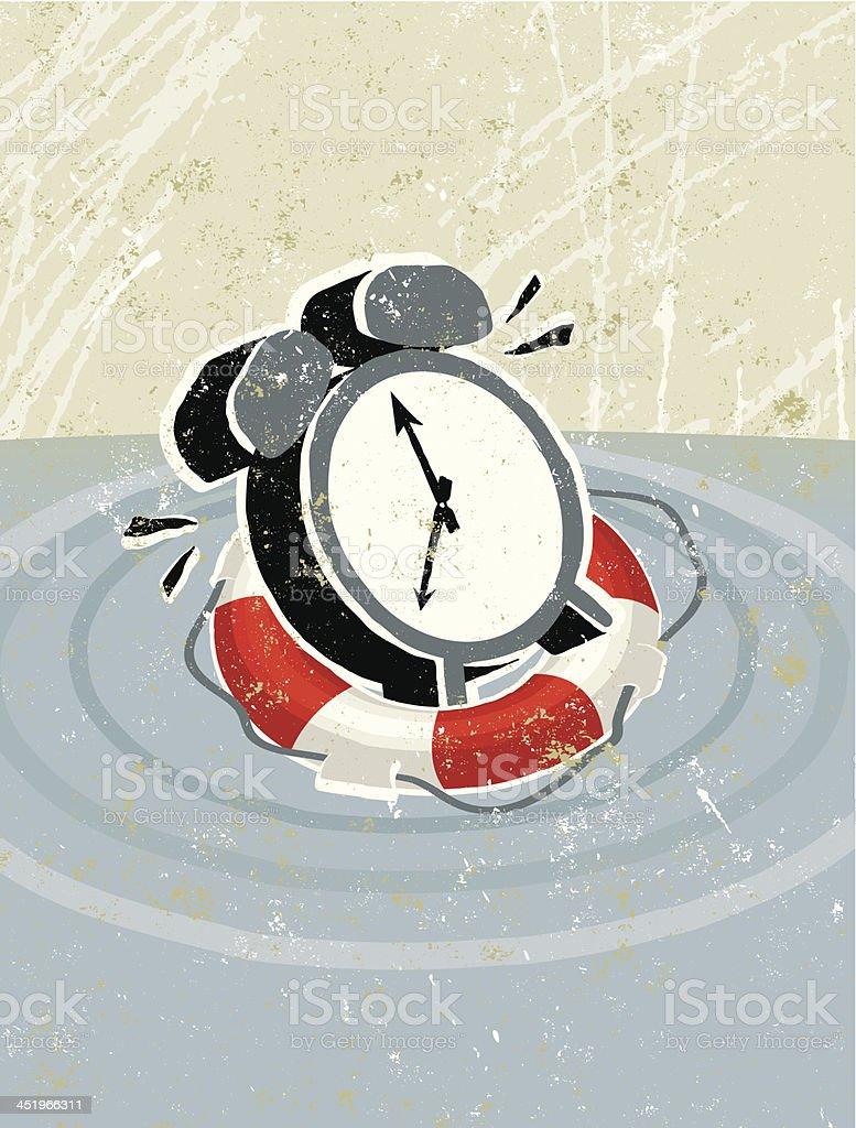 Ilustración De La Vida Bajo Un Reloj De Y Más Banco De Imágenes De