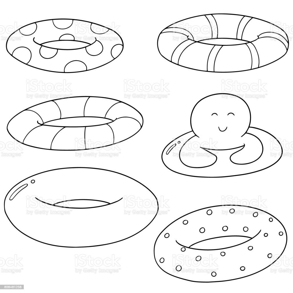 life ring vector art illustration