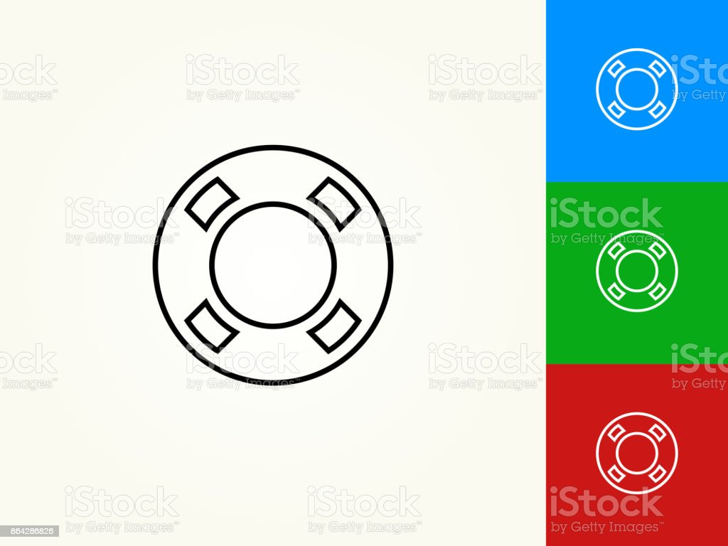 Life Saver Black Stroke Linear Icon royalty-free life saver black stroke linear icon stock vector art & more images of black color