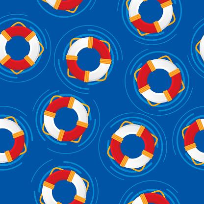Life Saver Ring Pattern Flat 1
