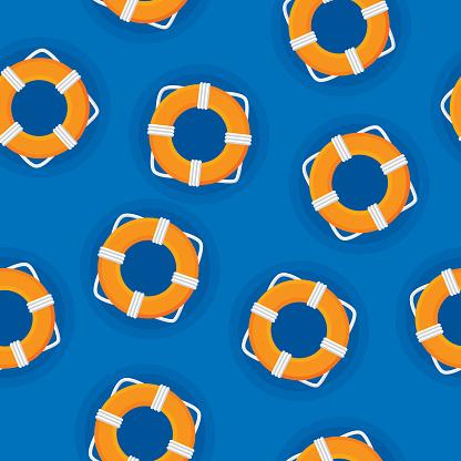 Life Saver Ring Pattern Flat 2