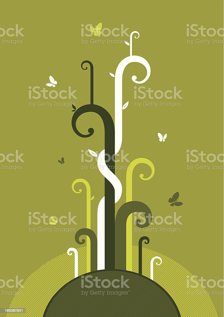life sprouts royalty-free stock vector art