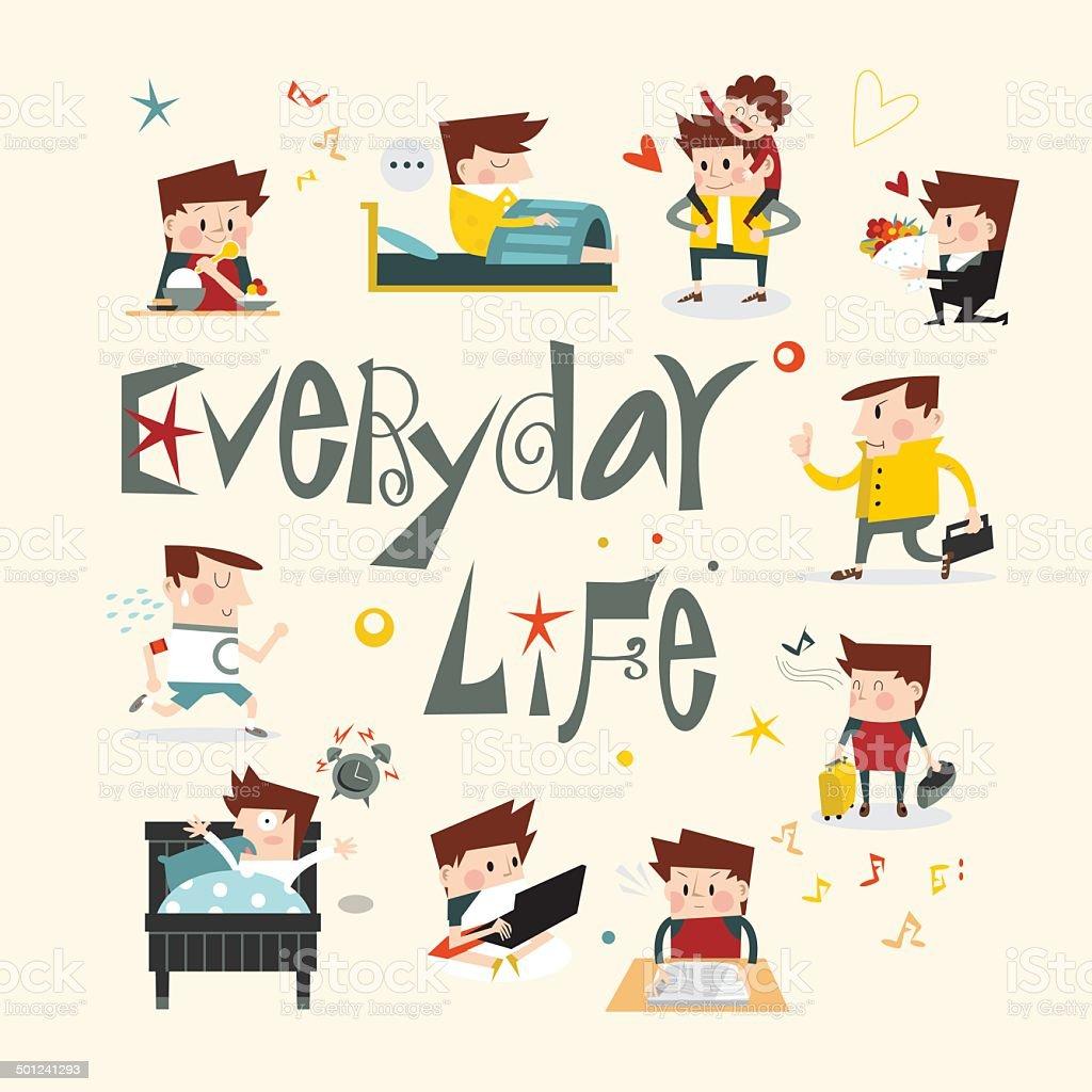 Life story A vector art illustration