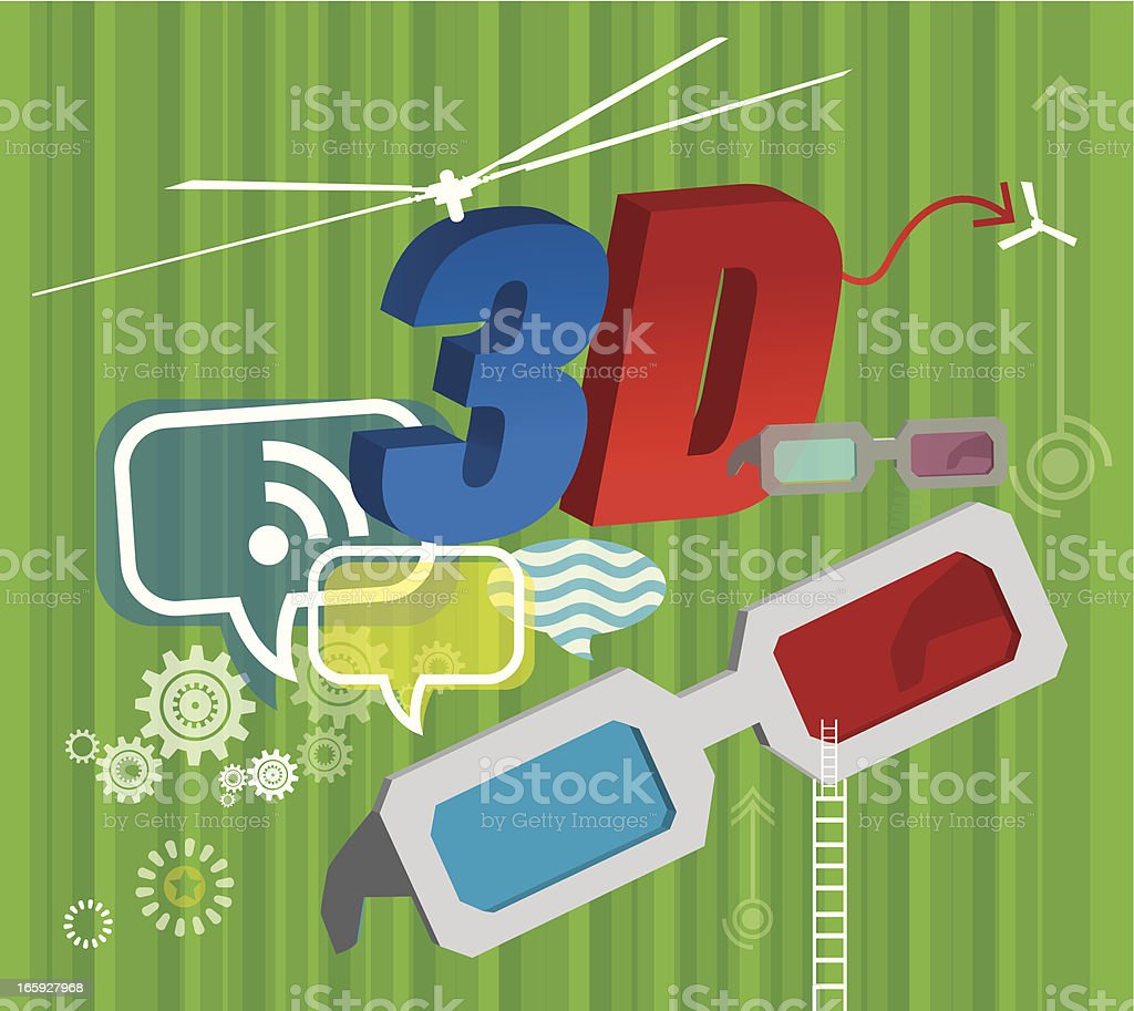 3-D life royalty-free 3d life stock vector art & more images of 3-d glasses