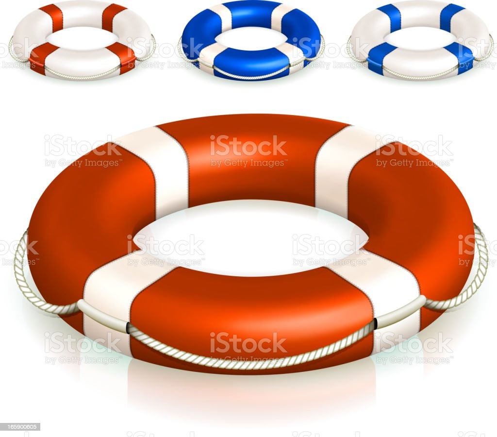 Lifebuoy Collection royalty-free stock vector art