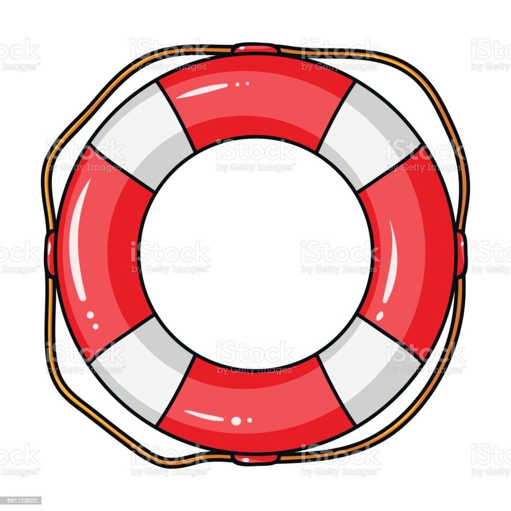 royalty free life preserver ring clip art vector images rh istockphoto com  life preserver clipart black and white