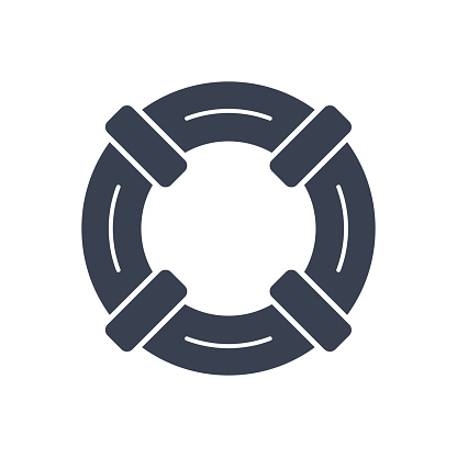 Lifebuoy Icon - Rescue Help Support - Vector Stock Illustration