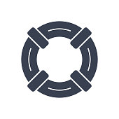 istock Lifebuoy Icon - Rescue Help Support - Vector Stock Illustration 1264696367