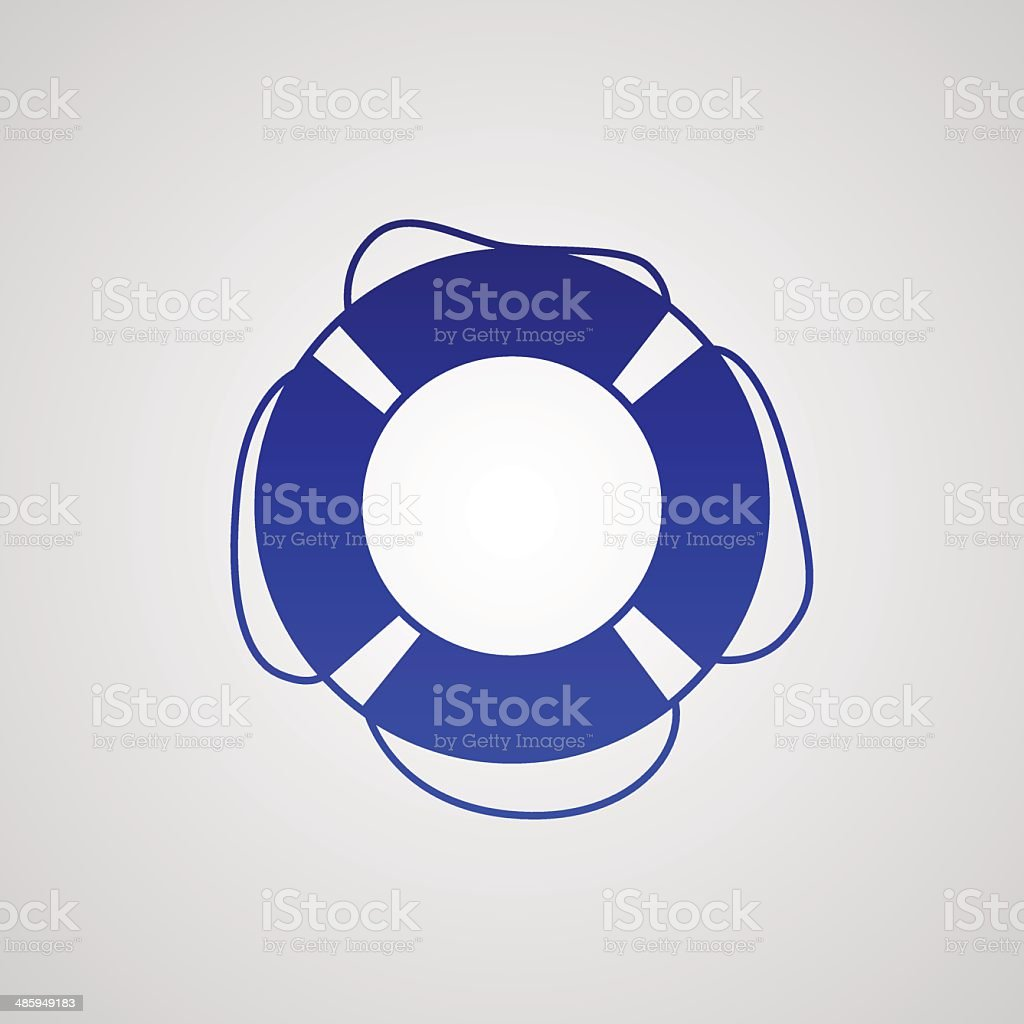 lifebuoy icon vector art illustration