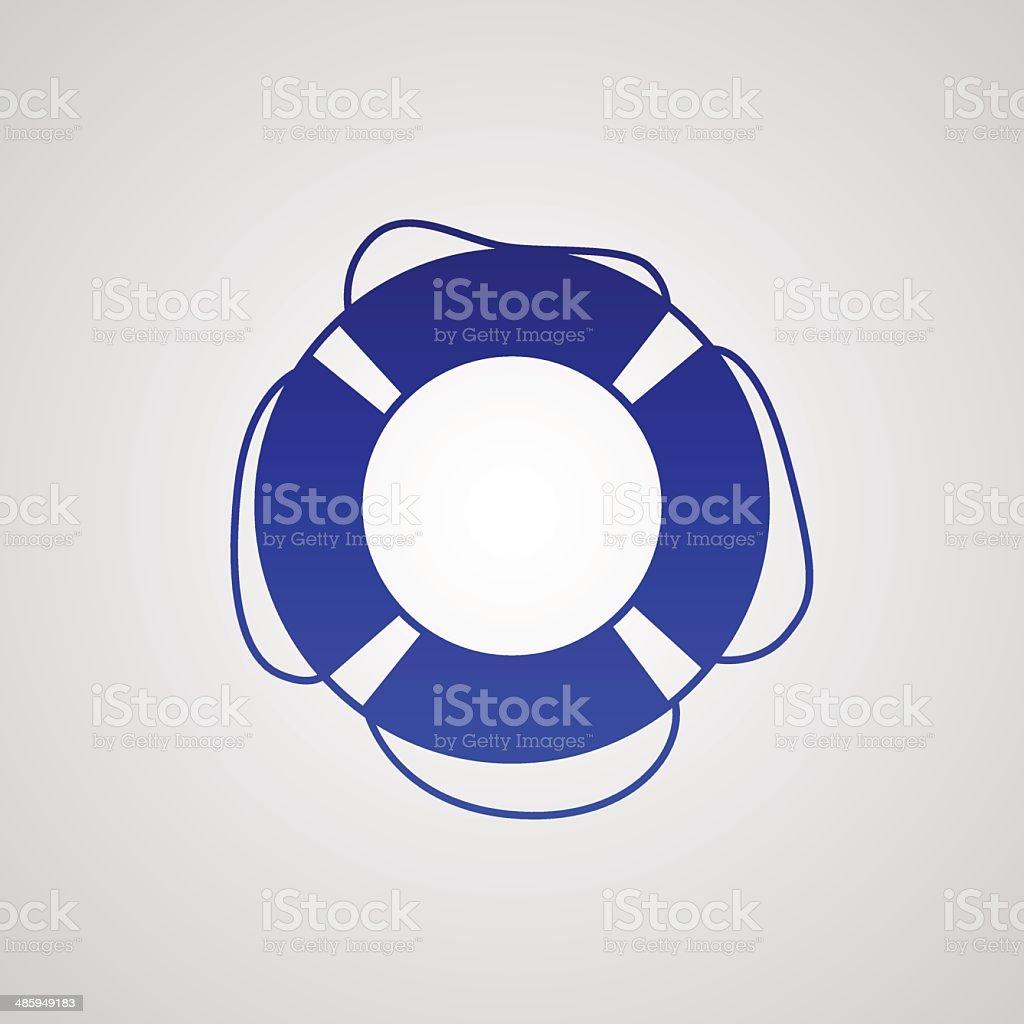 lifebuoy icon vector art illustration