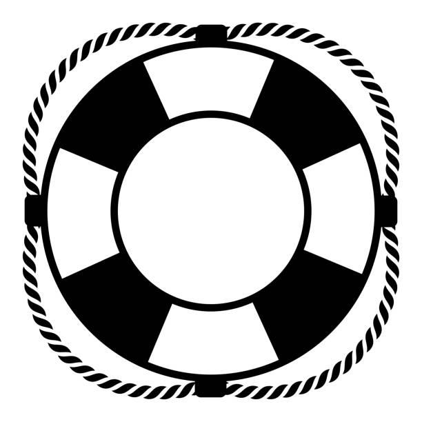 Lifebuoy on a white background Lifebuoy on a white background. Vector illustration lifeguard stock illustrations