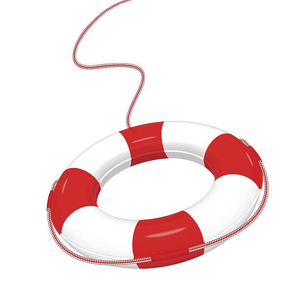 lifebuoy Vector illustration of white red Lifebuoy isolated on white.  EPS10. lifeguard stock illustrations