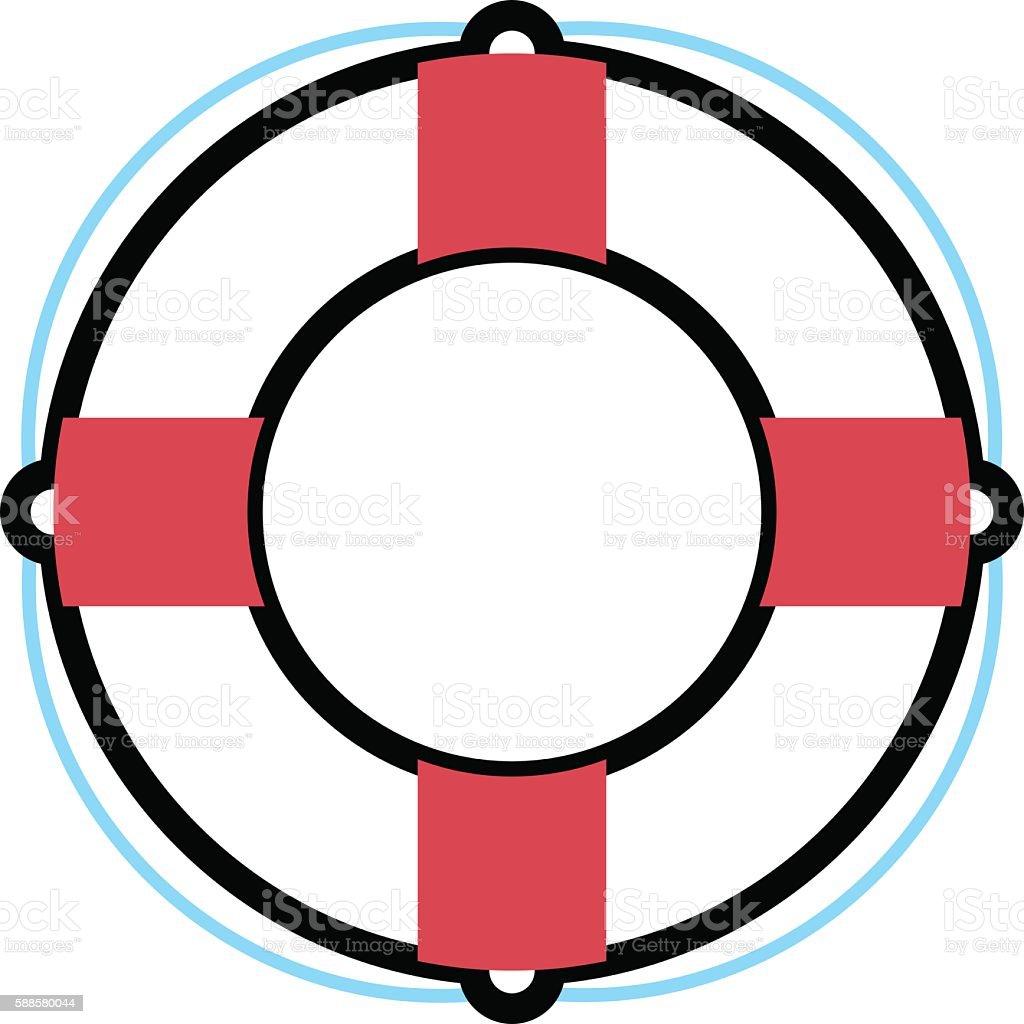 Lifebuoy vector illustration. vector art illustration