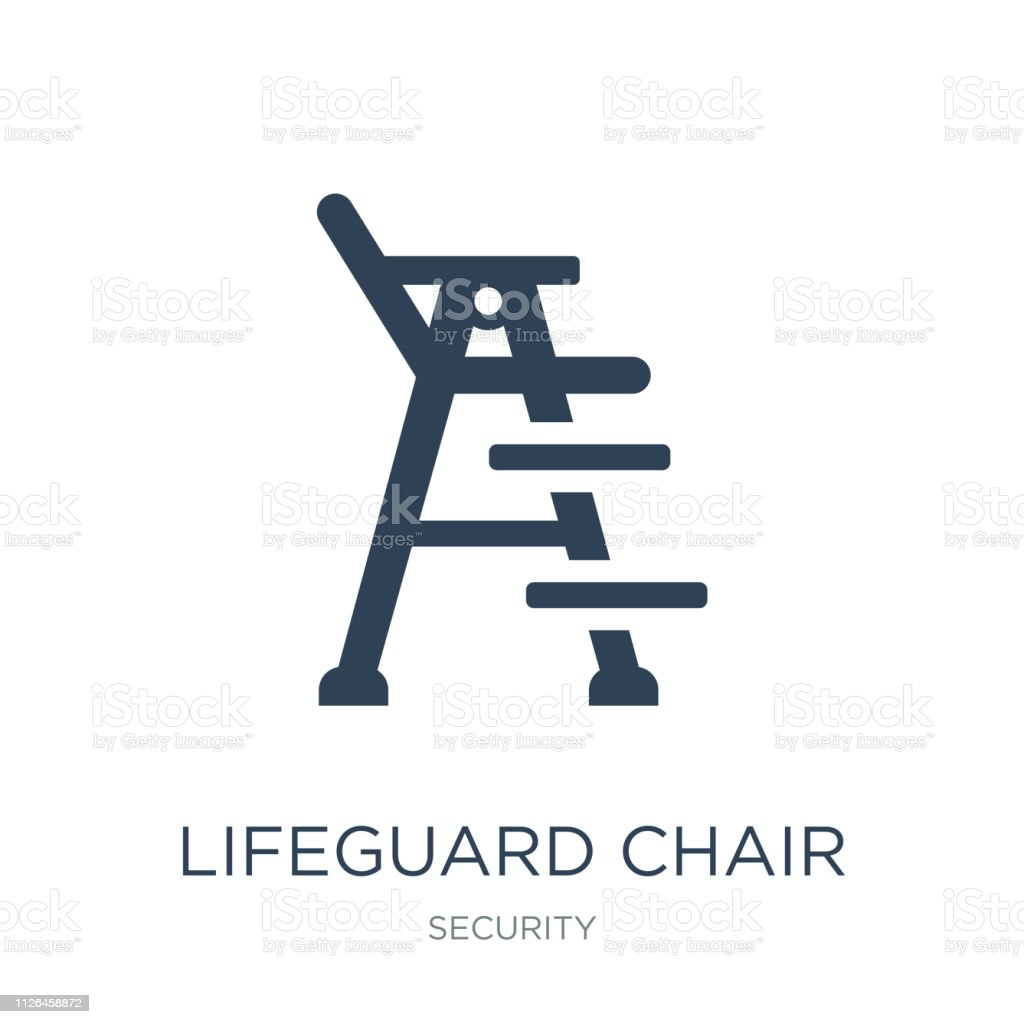 92074cf3457b Lifeguard Chair Icon Vector On White Background Lifeguard Chair ...