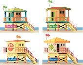 Vector Lifeguard Hut