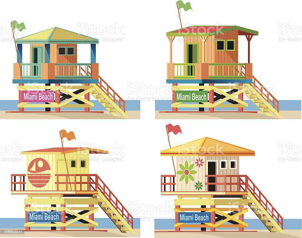 Lifeguard Hut vector art illustration