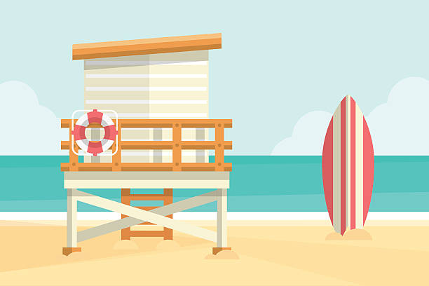Lifeguard Tower vector art illustration
