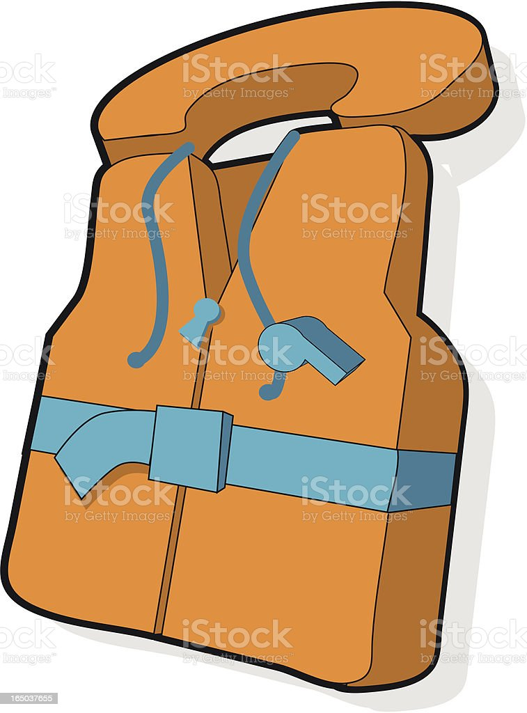 Lifejacket vector art illustration