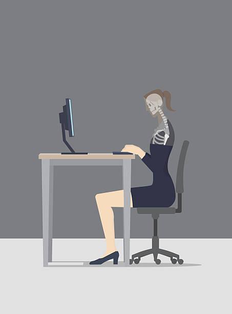 ilustrações de stock, clip art, desenhos animados e ícones de lifelogging conceito. o computador lê a mulher durante a sua sur - business woman hologram