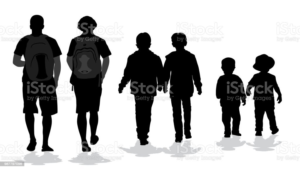 Lifelong Friends vector art illustration