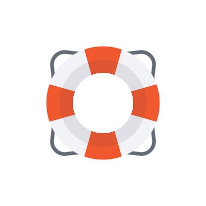 Lifering Vector Flat Icon
