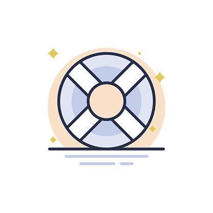 Lifering Vector Glyph Icon